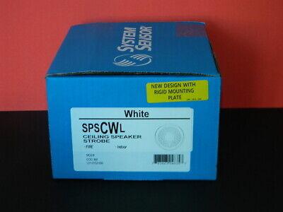 New System Sensor Spscwl Ceiling Fire Alarm Speaker Strobe White