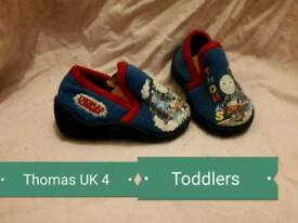 Thomas the tank engine slippers size 4 toddlers