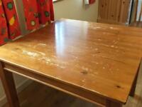 Square table 1m