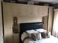 Bedroom wardrobe drawers set cream