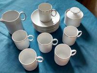 Thomas white/ platinum china coffee set