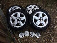 Renault Clio 15 inch Alloys With 2 Week Old Tyres