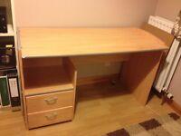 Desk free for uplift