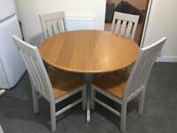 M&S Marks and Spencer Padstow Extending Kitchen/Dining Table and 4 Chairs Set