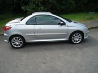 PEUGEOT 206 allure 2.0l coupe/convertible 2004 54 reg