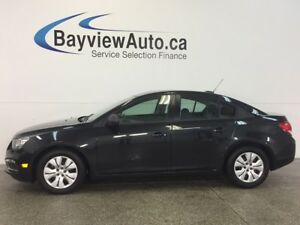 2015 Chevrolet CRUZE LS- 1.8L! 6 SPEED! A/C! ON STAR! LOW KM'S!