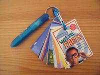 Deck of Weird Facts. 100% Klutz certified. 38 cards of weird facts/pen on carabiner.