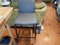 Vintage Retro Style Grey Bar Stool Dining Chair Kitchen Stool