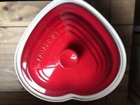 Le Creuset Heart stoneware casserole dish