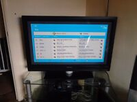 Philips 42inch plasma and glass stand complete