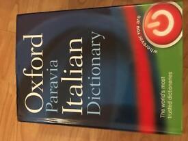 Oxford Paravia Italian Dictionary Hardcover