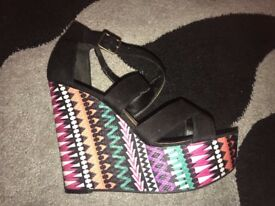 Ladies wedges size 7