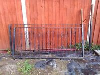 used wrought iron railings and gate
