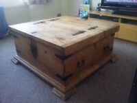 Large rustic coffee table/storage chest
