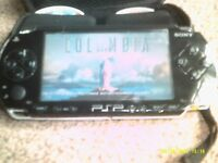 Sony PSP with games and films v good condition
