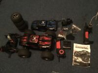 Remote controlled monster truck 1:12 scale