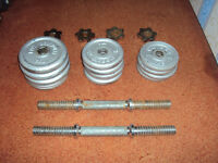 20kg Cast Iron Dumbell Set