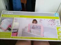 Pink bed guard sealed in box