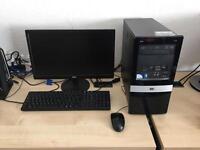 "Hp Pro 3010 Intel 2.8 ghz dual core 4gb ram 320gb hdd 19"" widescreen led full pc windows 10"