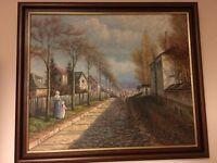 Painting signed V. Diehl