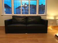 SOLD: BARGAIN 2x 3 Seater Leather Stylish Sofas £100 ONLY!!