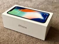 IPHONE X 64gb SILVER FACTORY UNLOCKED, BRAND NEW BOXED UNUSED, APPLE REPLACEMENT rrp £999