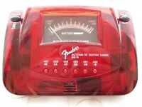 NEW Fender California AG-6 automatic guitar/bass tuner red sparkle battery mains mic