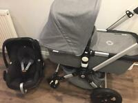 Bugaboo cameleon 3 grey melange classic collection & car seat