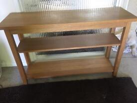 Oak veneer Console table
