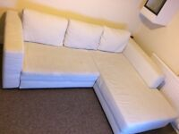 Large sofabed , 4 years old light colour