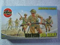 Airfix Multipose kits. British 8th Army, German Afica Corps and U.S.Marines