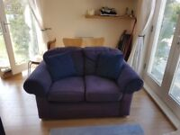 Free to a Good Home 2 Person Blue Sofa *Collection Only