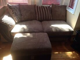 Corner sofa - from DFS 2 years old with storage foot stool
