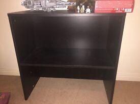 Black-brown 2 section shelf unit