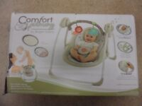 Portable Baby Swing with Soothing Melodies