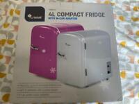 New mini fridge white