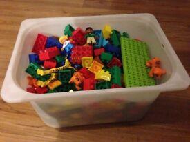 Duplo / lego / megabloks including zoo set garden set animal set