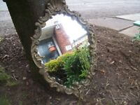 Heavy Metal Rococo Style Wall Mirror. 40 cm's x 29 cm's. In Good Order.