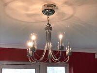 5 arm modern chandelier ceiling light