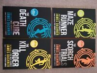 'The Maze Runner' 4 book series by James Dashner, in new condition