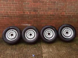 MERCEDES SPRINTER & VW CRAFTER (2007-20016) X4 BRAND NEW WHEELS WITH TYRES GOODYEAR 235/65/16 C