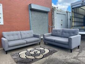 Beautiful grey NEXT sofas 3&2 delivery 🚚 sofa suite couch furniture