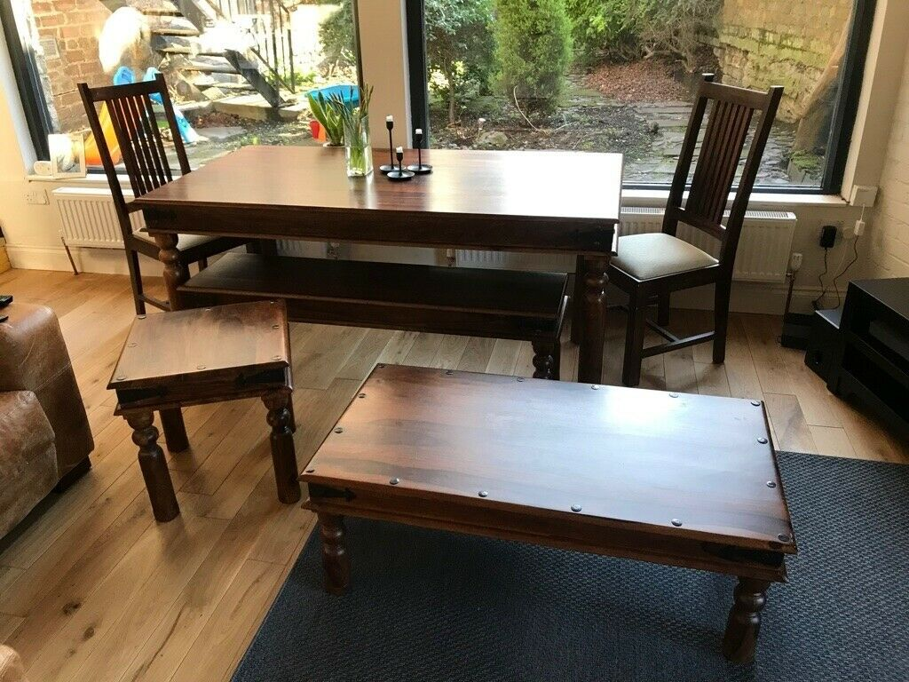 John Lewis Living Dining Room 6per Table 3per Bench 2 Chairs Side Coffee