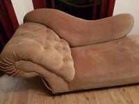 Chaise Lounge - Original upholstery - Olive Colour Dralon