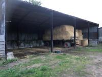 Agricultural farm portal frame shed