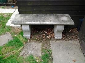 Reconstituted stone bench