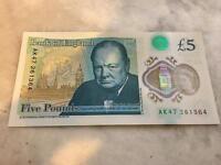 AK47 £5 note perfect condition