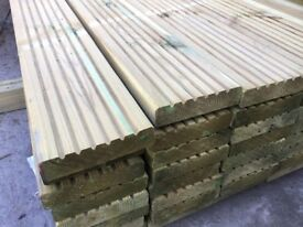 Decking boards £2 per metre pressure treated green