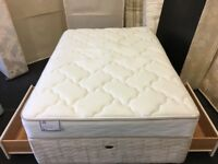 "4ft 6"" Seally Storage bed-AS NEW (FREE DELIVERY)"