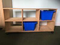 Pine Wood Storage unit x6 cube spaces